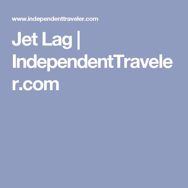 Jet Lag | IndependentTraveler.com