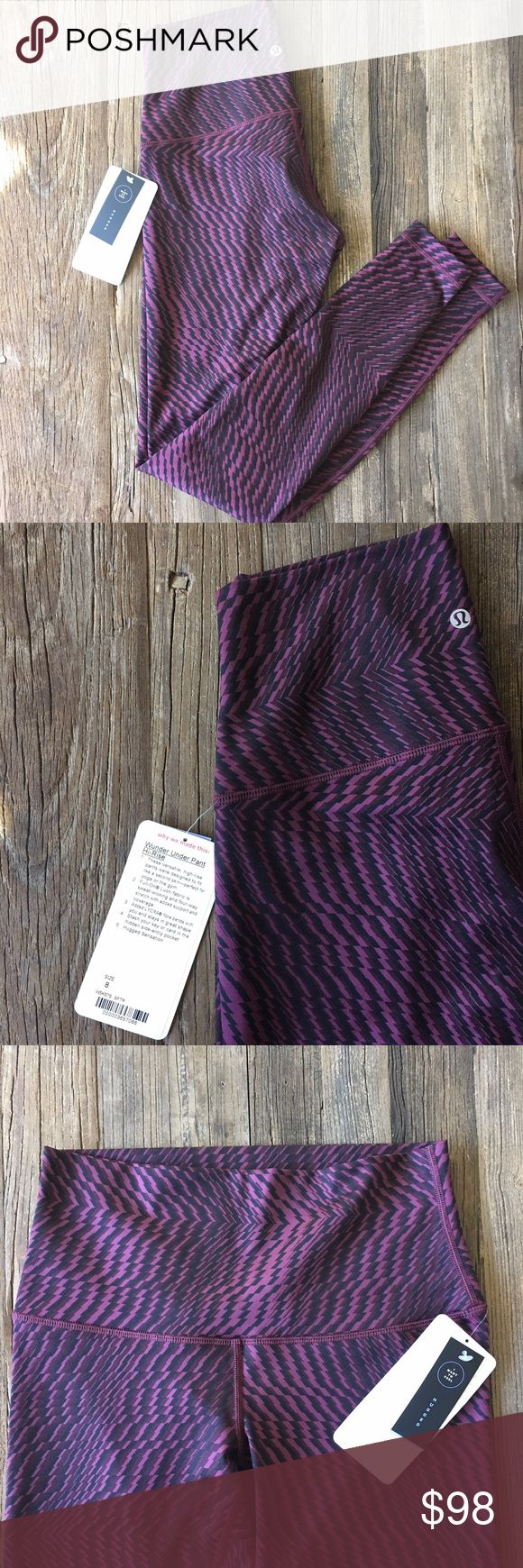 nwt//lululemon • wunder under pant (high rise) nwt//lululemon • wunder under pant (high rise) * full-on luon fabric  * color: shifted horizon/red grape/black * versatile pants; fit like second skin * perfect for yoga lululemon athletica Pants Leggings