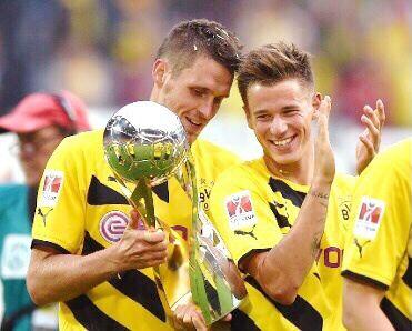 Erik Durm und Sebastian Kehl. #echte liebe  #Heja BVB