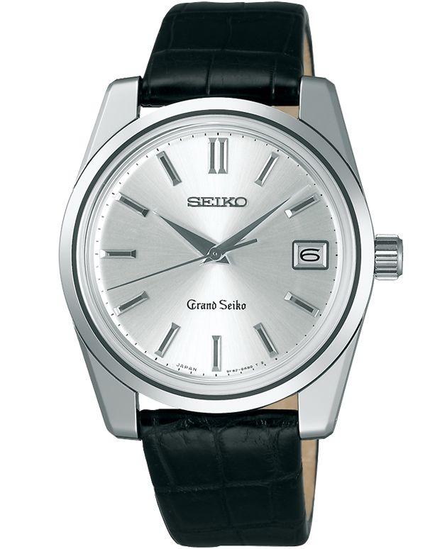 Grand Seiko 9F82 Limited Edition Quartz Silver Dial Crocodile Leather Watch - SBGV009