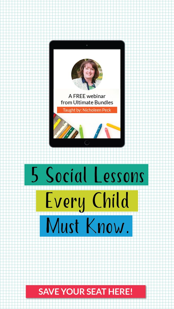 5 Social Lessons Every Child Must Know. Free webinar! in
