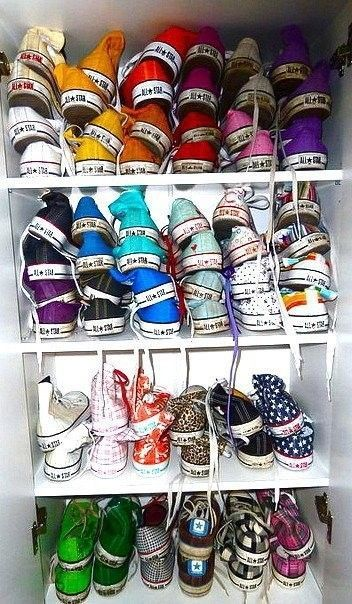Dream Converse closet. --- dream? This looks like my closet. Haha
