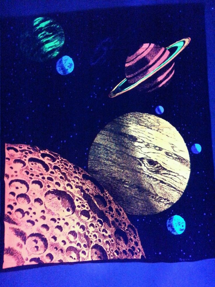 Outer space galaxy system blacklight uv reactive for Outer space themed fabric
