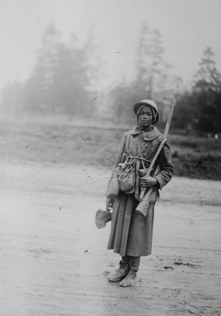 Un jeune tirailleur sénégalais, le 24 octobre 1916 à Verdun - DR