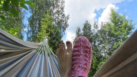 Bit cold this year 2014 :) -- Tältä se näyttää ja tuntuu: Suomen villasukkakesä 2014