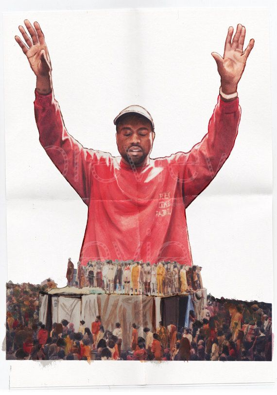 Kanye West The Life of Pablo Poster Art by CelebrityOilPainting