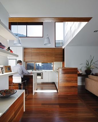 Spotted gum flooring and cabinetry