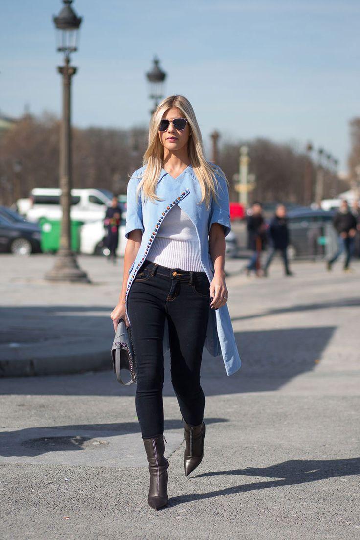 Dior coat. Paris Fashion Week, Fall 2015.