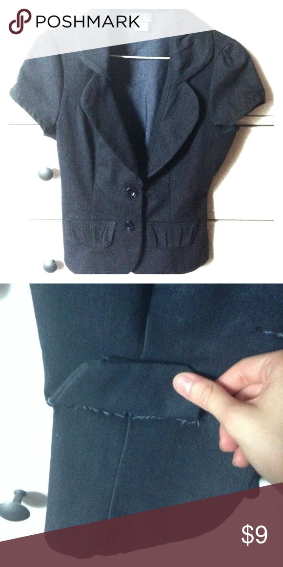 Dots: navy blue short sleeve blazer In good condition. The pockets are not real (shown in picture 2). Bundle it or offer in reasonable price. Feel free to ask questions. Dots Jackets & Coats Blazers