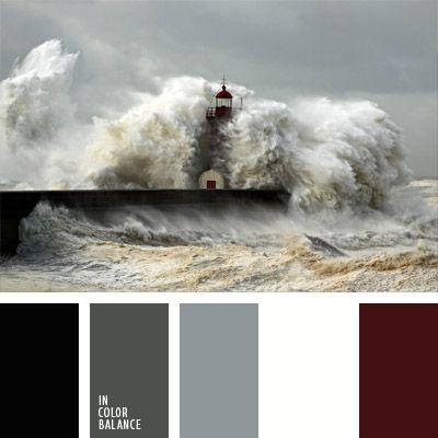 blanco y gris, color arsénico, color azul tormenta, color burdeos oscuro, color gris azulado, color guinda oscuro, color marrón burdeos, color negro azulado, color rojo vino, gris, matices del mar tormentoso, tonos grises.