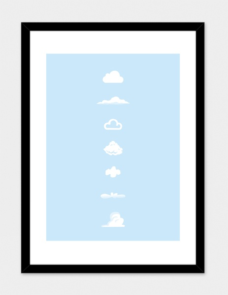 """""""famous clouds"""" - Art Print - yoni alter 