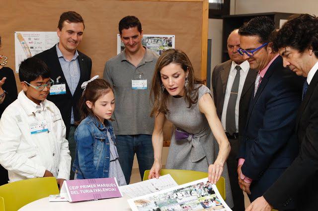 April 27, 2017.. Queen Letizia of Spain Attends Educative Congress of Rare Diseases in Valencia