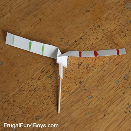 how to make a paper helicopter fall slower
