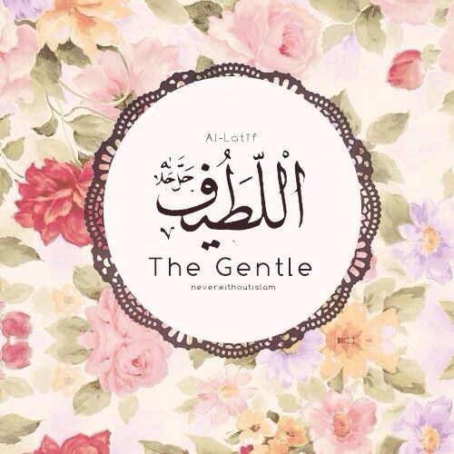 Beautiful names of Allah ♥ Al-Latif, The Gentle (The All-Kind ♥ Most Gentle) ♥ so beautiful and true