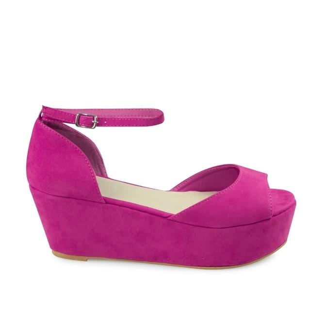 Hot pink sandal flatforms » Różowe by ShoLove