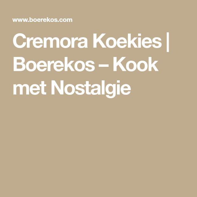 Cremora Koekies | Boerekos – Kook met Nostalgie
