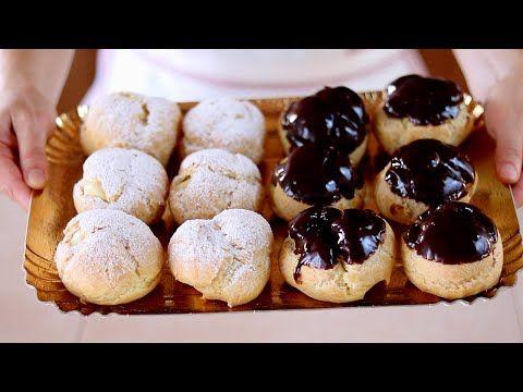 Bignè alla crema e al cioccolato ricetta facile - Fatto in casa da Benedetta