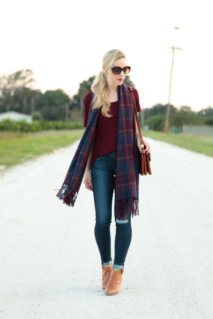 bd3fb8eeeb76a   Ninety in November  Plaid scarf