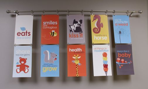 Curtain Rod and Hanging Clips for Mini Posters