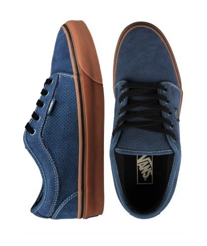 Vans Chukka Low Shoes - Navy Blue/Gum $60.00 #vans #chukka