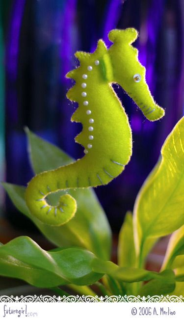 futuregirl craft blog : The Seahorse Family Stuffies Pattern Is Available