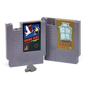 With a rubber stopper to keep things in place, these flasks look just like NES cartridges and each hold 6 oz. of your favorite beverage (not included).