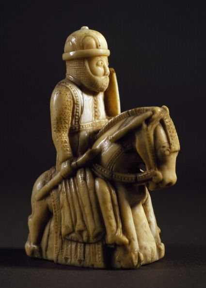 Knight chess piece ivory Northern Europe 13th century Florence Museo Getty Images