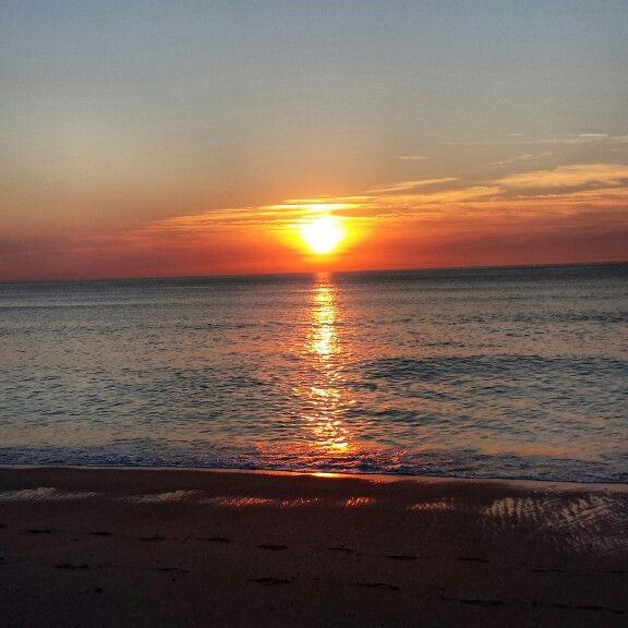 Sunset à Bidart, pays basque, France