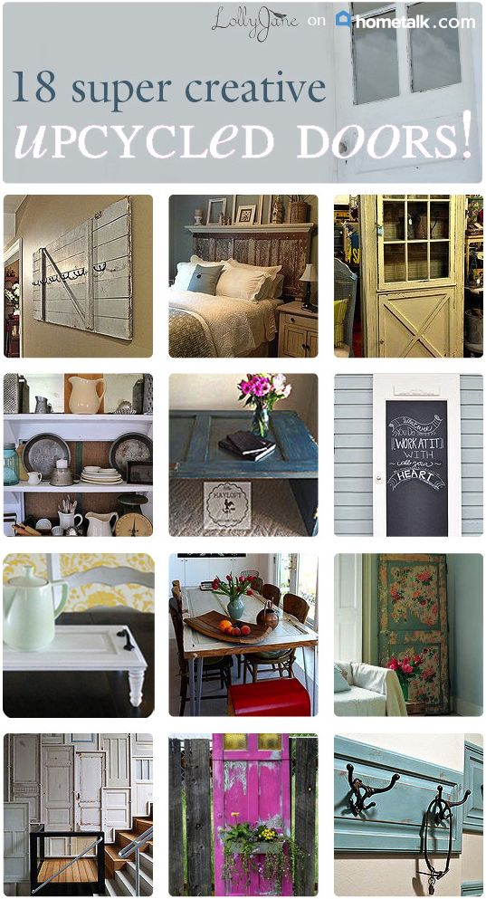 18 Creative Ways To Upcycle Doors Decor The O 39 Jays And