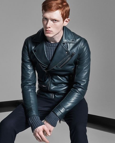 Mens redhead leather jacket