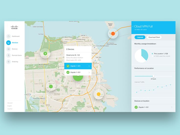 We've been working with Cisco to redefine their app style. This is a map view of one of the screens.   Full view in the attachment.  ---- More from this project coming soon. You can follow me on Tw...