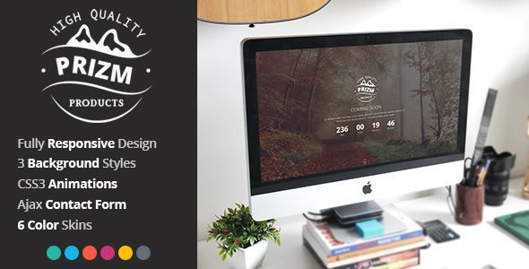 ThemeForest - Prizm Responsive Coming Soon Theme Free Download