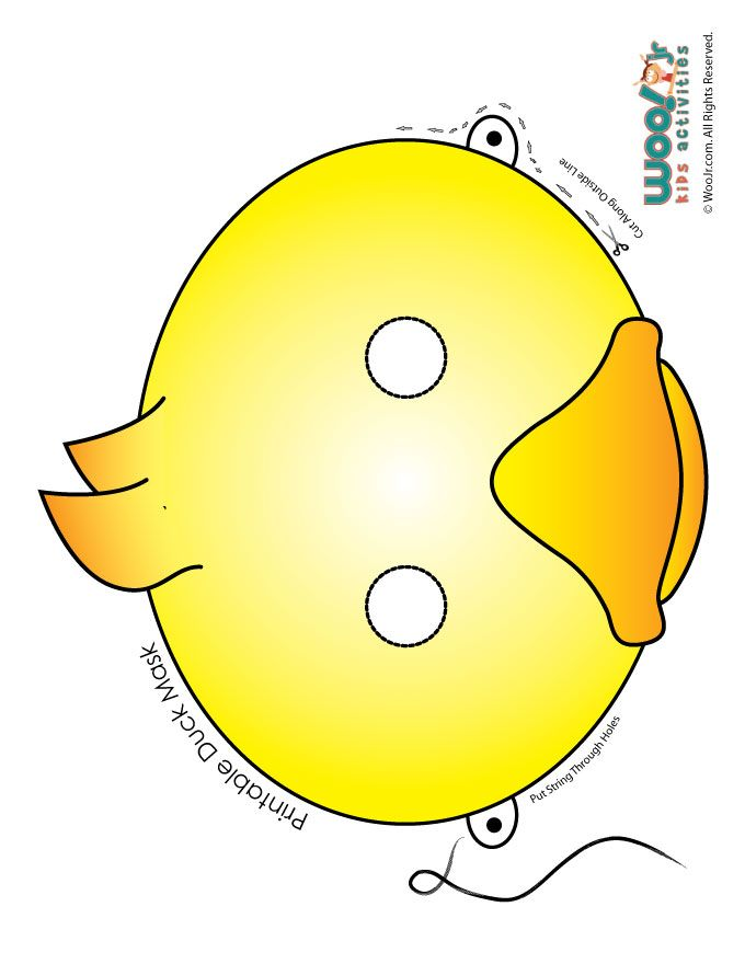 Make Way For Ducklings Printable Classroom Activities Cute Yellow And Orange Duckling Mask Jr