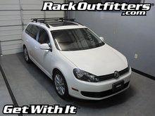 Volkswagen Jetta SportWagen Thule Crossroad SQUARE BAR Roof Rack '09-'14*