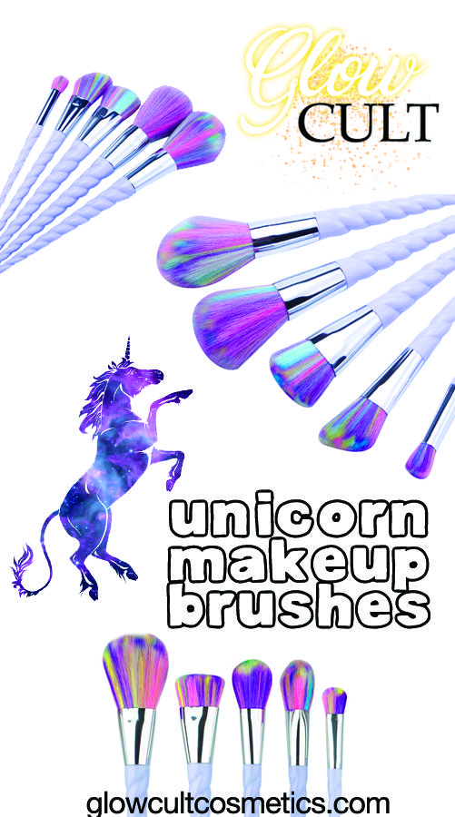 Our magical unicorn brush set include 5 different brushes. 100% vegan. This is a pre-sale listing! Reserve yours now before we sell out. Your Unicorn Brush Set will ship in 22-30 days with a free stra