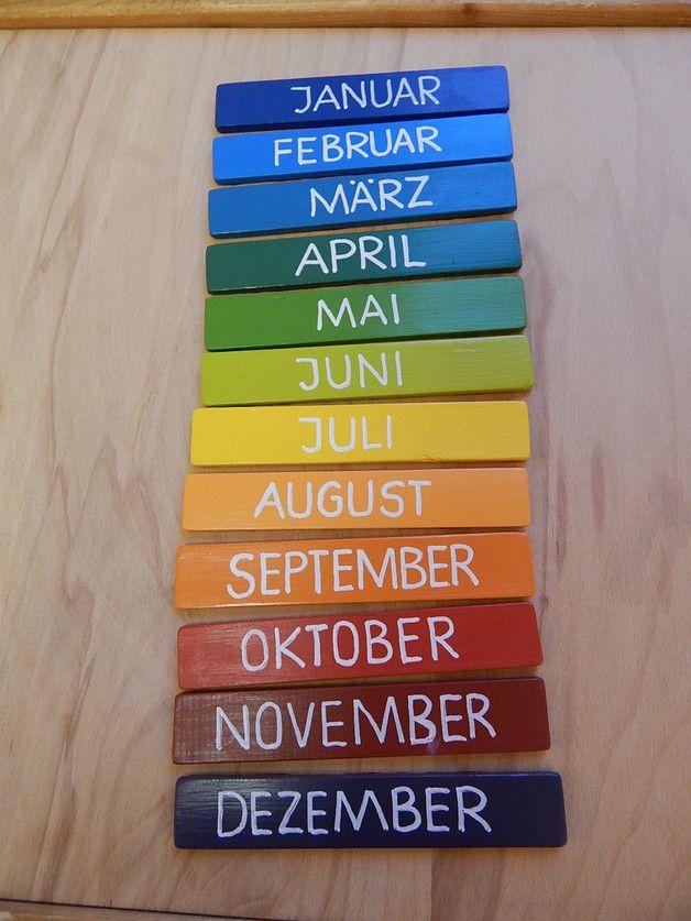 Weiteres - Jahreskreis / Geburtstagskreis (groß) Montessori - ein Designerstück von Kinderhaus-laden-wurzen…