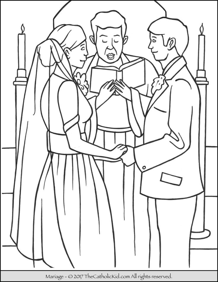 sacrament of marriage coloring page - Coloring Pages Catholic Sacraments