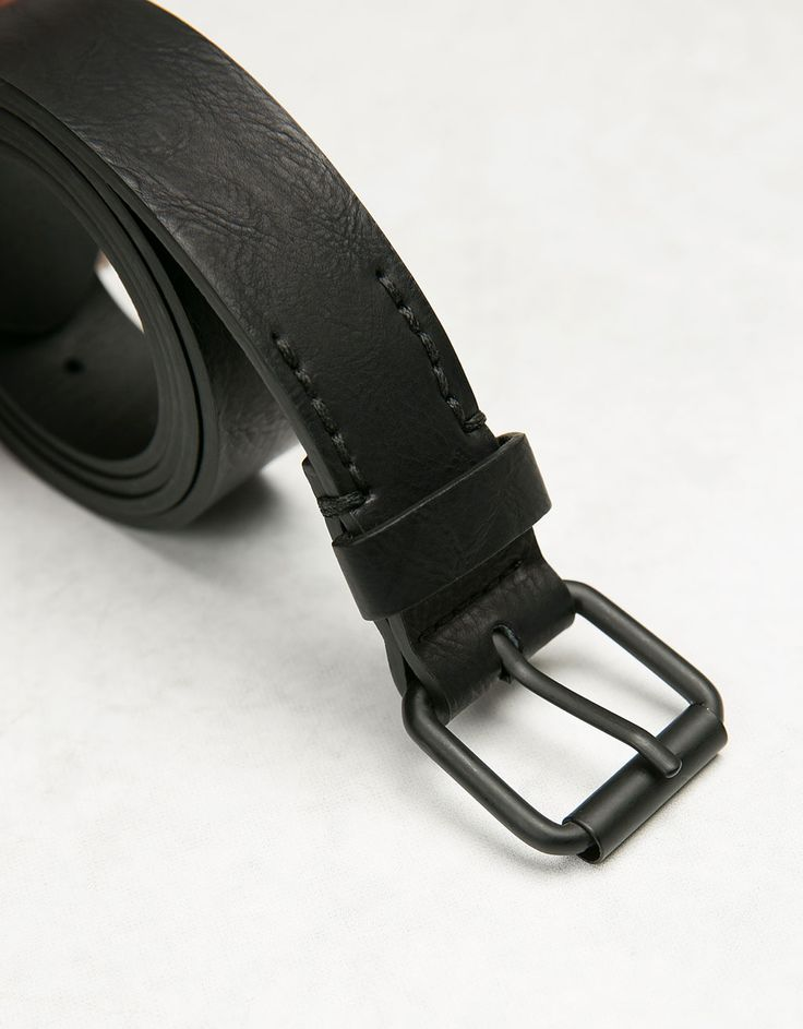 Skinny belt roller buckle - Accessories - Bershka Poland
