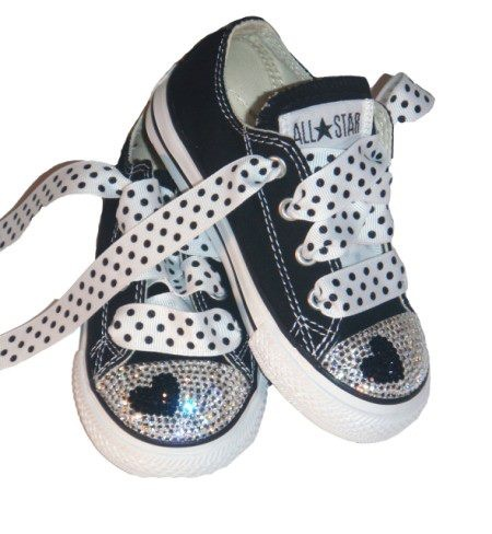 Black Rhinestone Converse July 2017