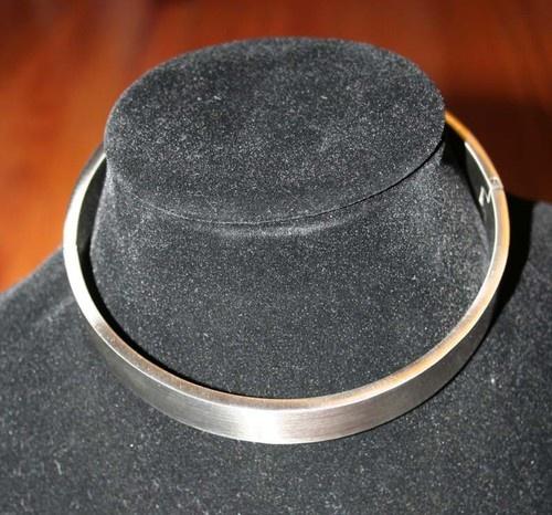 "Locking Stainless Steel Slave Collar Removable O Ring Hidden Screw Closure 47cm | eBay seller ""slaveoutlet"""