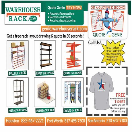 Warehouse Rack is interested in the prosperity of Your business and ready to make all needed efforts for achieving the goal! http://genie.warehouserack.com/
