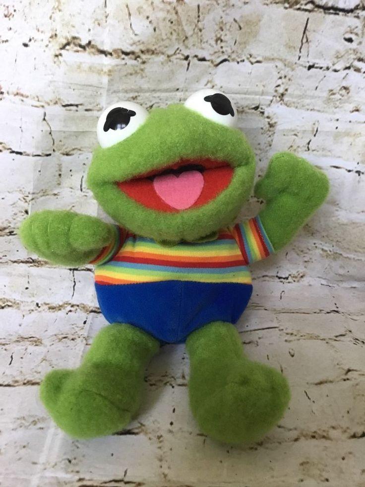 Vintage 1985 Hasbro Softies Baby Kermit The Frog Plush Muppet Babies Jim Henson   Toys & Hobbies, TV, Movie & Character Toys, Muppets, Sesame Street   eBay!
