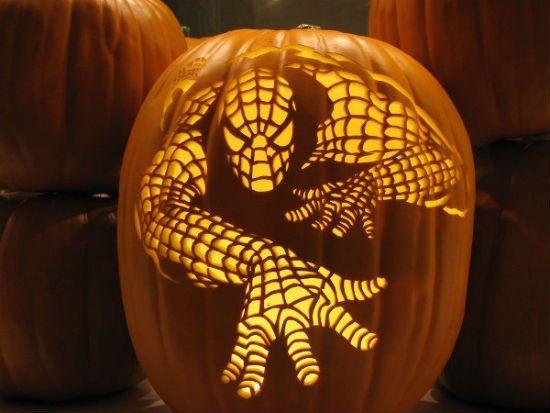 Spiderman http://mom.me/toddler/15170-craziest-pumpkin-carvings/item/spiderman/