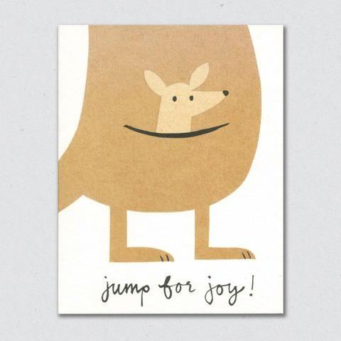 Lisa Jones Studio - Jump For Joy kangaroo card Awww mommy and Rhys!