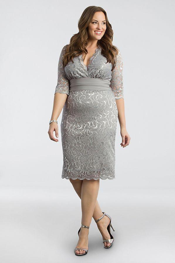 54cdfb79509 Lumiere Lace Plus Size Cocktail Dress Style 13160907