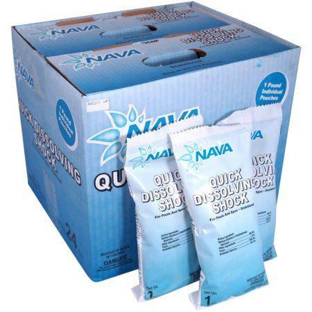 Nava Quick Dissolving Swimming Pool Shock Treatment, White