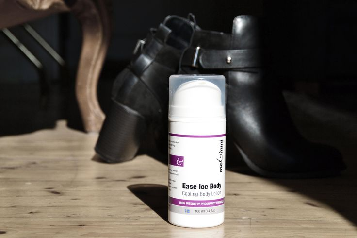 Ease ice body - cooling body lotion. Minskar krypningar och kramper under graviditeten.
