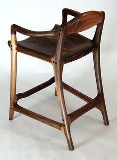 Modren Wood Chair Furniture Inspired Contempory Walnut Bar Stool Built By Paul Lemiski Of Canadian Inside Ideas