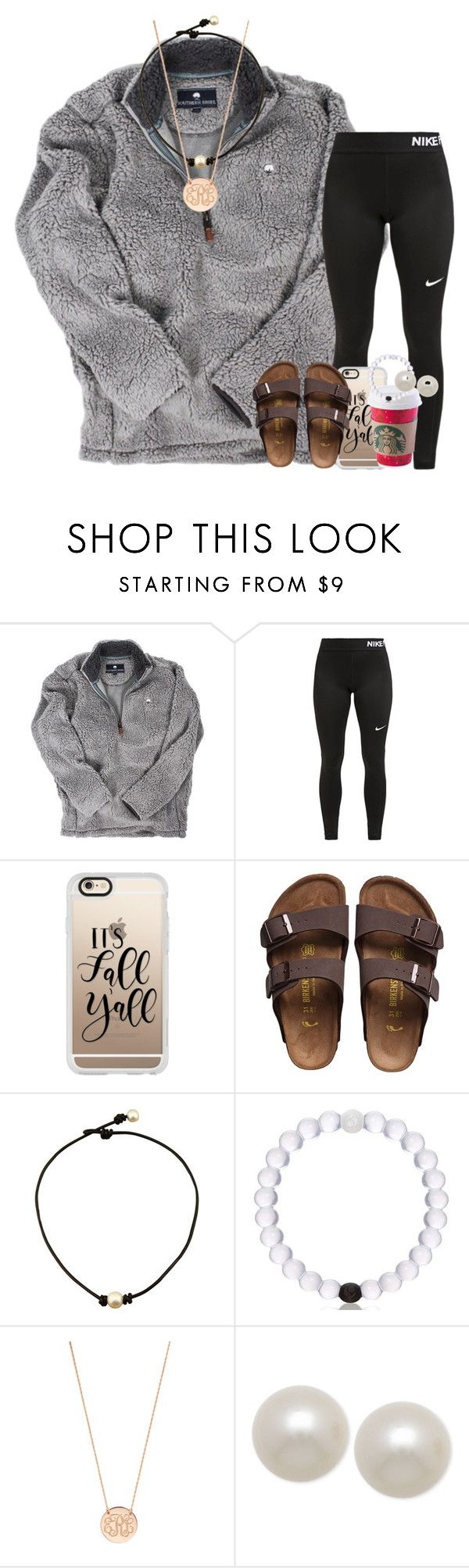 """relaxed set"" by ellaswiftie13 ❤ liked on Polyvore featuring NIKE, Casetify, Birkenstock, BaubleBar and Honora"