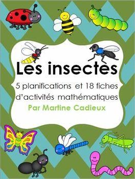 Voici un document complet qui comprend 5 planifications détaillées,18 fiches d'activités mathématiques et plus encore pour votre thème d'insecte